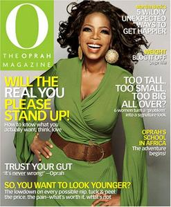 A cover of the Oprah Magazine.