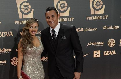 Keylor Navas and his wife Andrea. / LFP