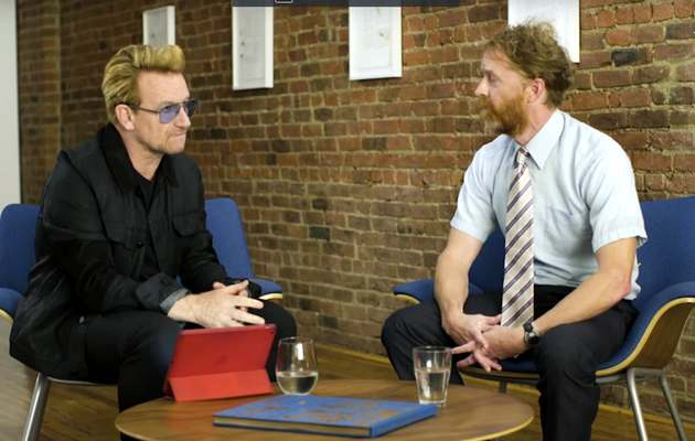 Bono and David Taylordurin one of the interviews./ Fuller Studio,
