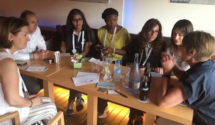 Christian nurses lunch, at the congress. / Enfermeria Cristiana