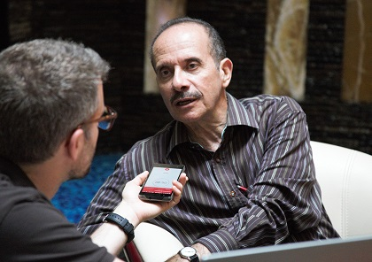 A moment of the interview. / Photo: Daniel Hofkamp, EF
