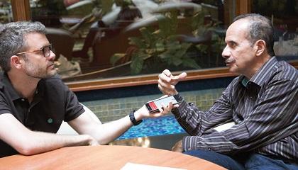 Joel Forster and Ramez Atallah during the interview. / Photo: D.Hofkamp, EF