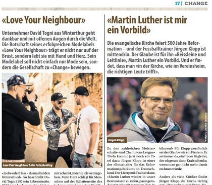 The newspaper shares stories about people from diverse backgrounds who believe in Jesus.