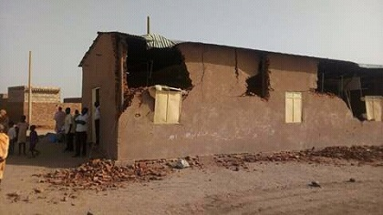 An evangelical church in the process of being demolished, in Khartoum. / WWM