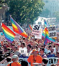 Gay pride march in Madrid. / Wikipedia (CC)