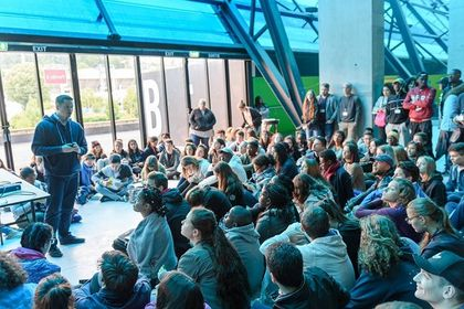 More than 1,000 teenagers participated in the Bouge ta France youth conference. / BTF