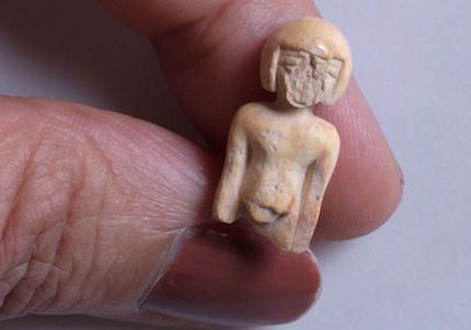 One distinct and rare finding is a small ivory statue of a woman. / IAA