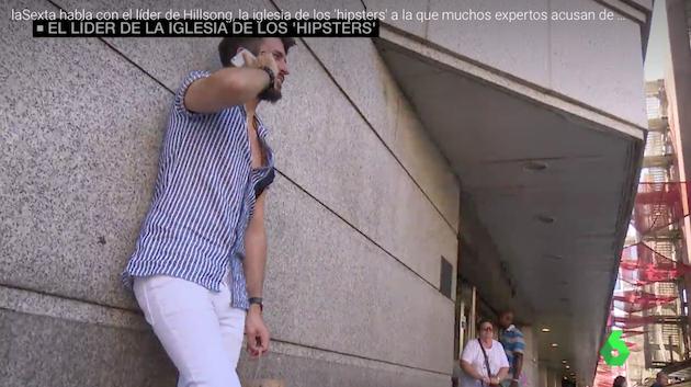 A moment of the La Sexta report on Hillsong in Spain. / La Sexta,juan mejias hillsong