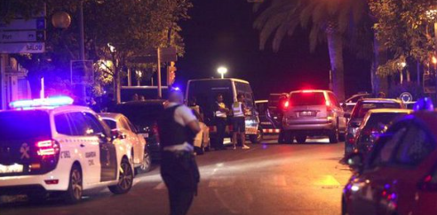 Police in Cambrils, after five suspects were shot dead after injuring seven people.