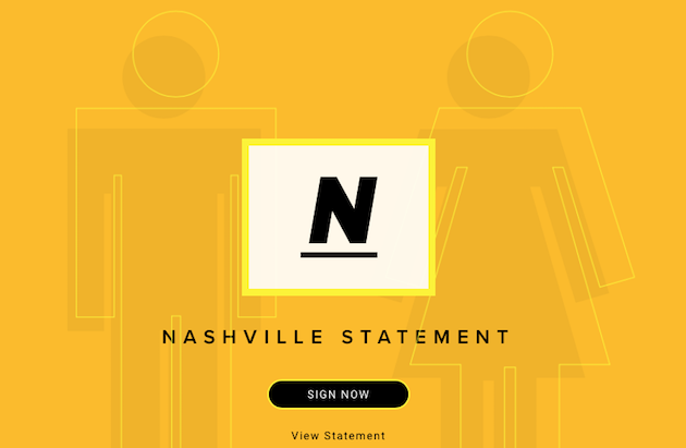 The Nashville Statement has been signed by 150 evangelical representatives. ,