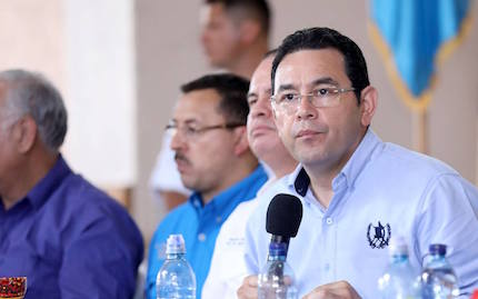 Jimmy Morales in apolitical event in 2017. / Facebook Jimmy Morales