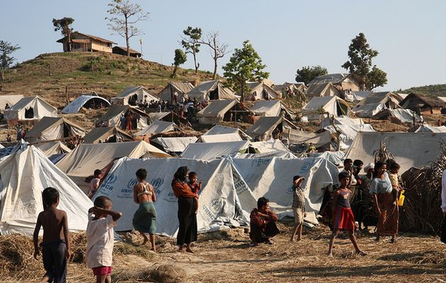 Rohingya in Taung Paw Camp in Rakhine State./ Flickr (CC),