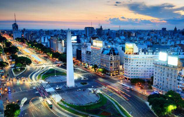 Buenos Aires at night,