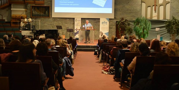 General view of one of the sessions of EFN Bridge conference, in Berlin. / Iona Hulmenicu,