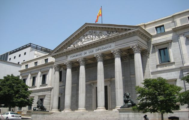 The Spanish Parliament.,