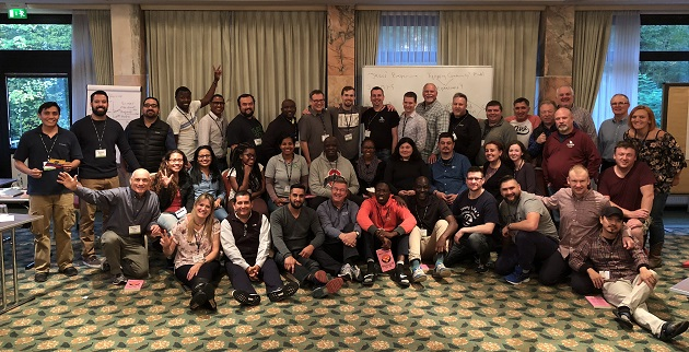 Group photo of the 2017 Young Life leaders conference in Frankfurt (Germany). / YL,