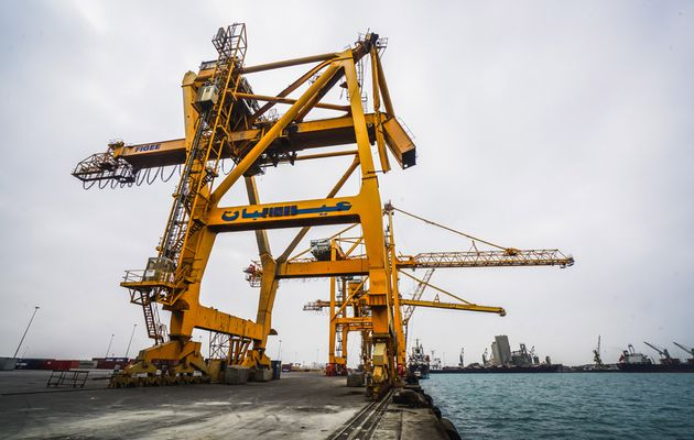 The Al Hudaydah port is a major lifeline for Yemen. / Giles Clarke, OCHA.,