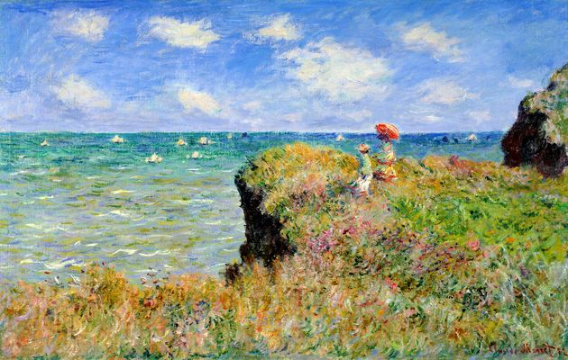 Claude Monet: Clifftop walk at pourville, 1882,