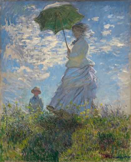 Woman with a parasol.