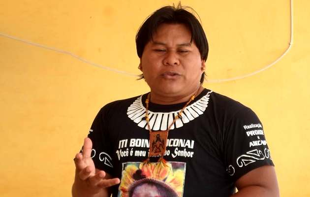 Silverio Orewawe, the native leader that is translating the Bible.,Silverio Orewawe
