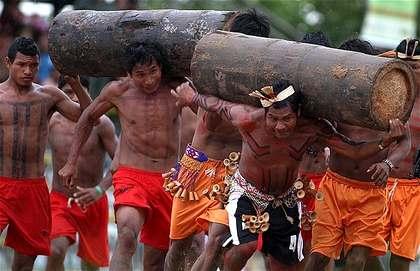 A Xavante sports competition.