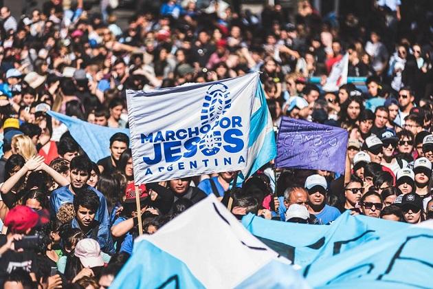 The Buenos Aires 2017 March for Jesus. / Photos:  Facebook - Marcho por Jesús,