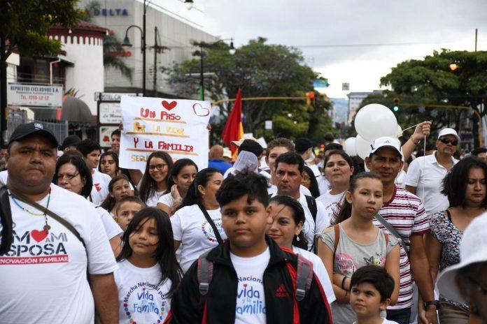 Participants in the march in San Jose, Costa Rica. / CECR