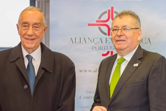 Marcelo Rebelo de Sousa and Antonio Calaim. / AEP,