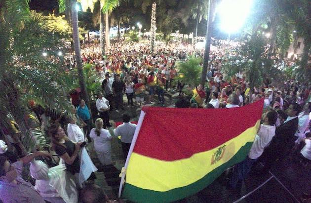 A prayer march in Santa Cruz (Bolivia) on January 13. / ANDEB,