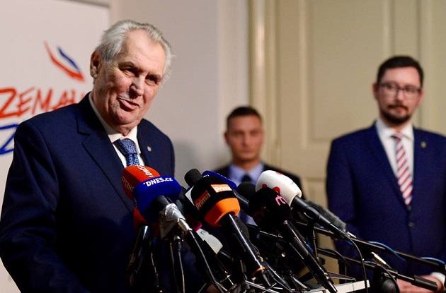 Milos Zeman has been in office since 2013, but could lose his position in the 2018 second round. / M. Zeman Facebook,