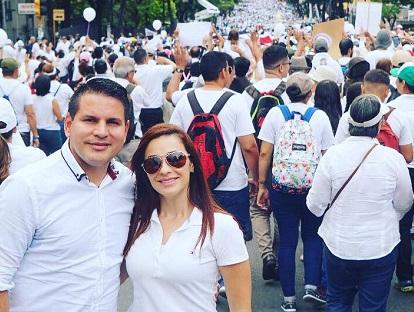 Candidate Fabricio Alvarado and his wife attend a march for family and life in San José, Costa Rica's capital city. / Facebook F. Alvarado