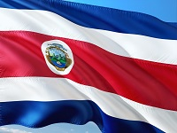 The Costa Rican flag.