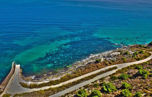 The coast of Melilla, near the Moroccan border. / Wikimedia Commons,