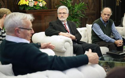 The mayor of Valencia, Joan Ribó, who received a delegation from the evangelical community of the city.