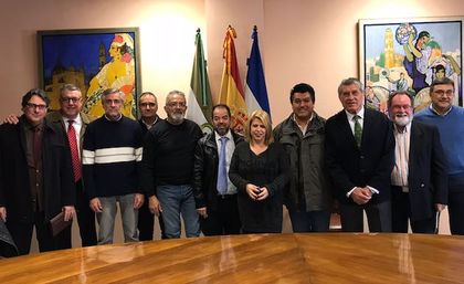Mamen Sánchez, the mayor of Jerez de la Frontera, in the South of Spain, held a meeting with the coordinators of the Fraternity of Evangelical Churches.