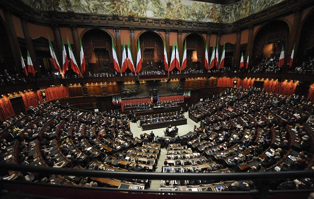 The Italian Parliament.,