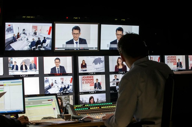 Image of the Swiss Public Television. / Swissinfo,