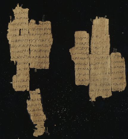 There are papyri of the Gospel of Matthew that come from the middle of the second century./ The Trustees of the Chester Beatty Library, Dublin