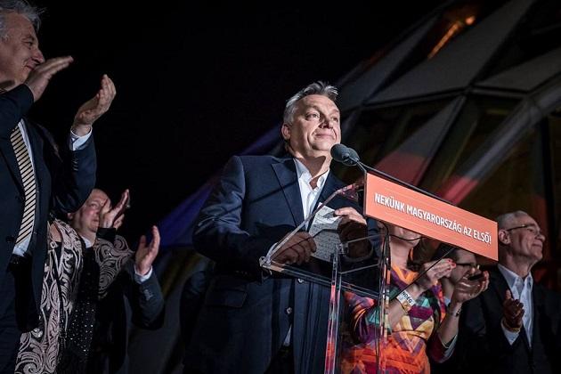 Viktor Orbán after winning the Hungarian election. / Official Facebook Orbán Viktor,