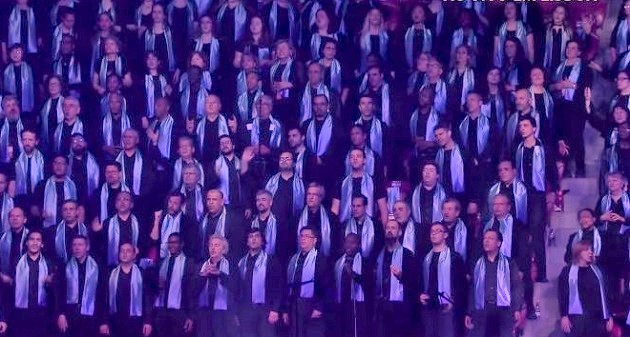 The Gospel choir of the Festival da Esperança, in Lisbon. / Festival da Esperança livestream,