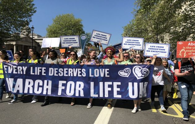 Thousands marched for life in London. / UK March for Life Twitter.,