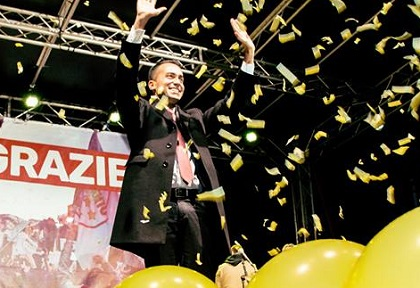 Luigi Di Maio, leader of the M5S, the winner of the Italian election in April. / Facebook LDM