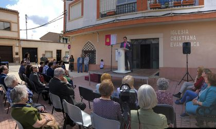 The Mayor of Moral de Calatrava talked during the event. / M. Gala