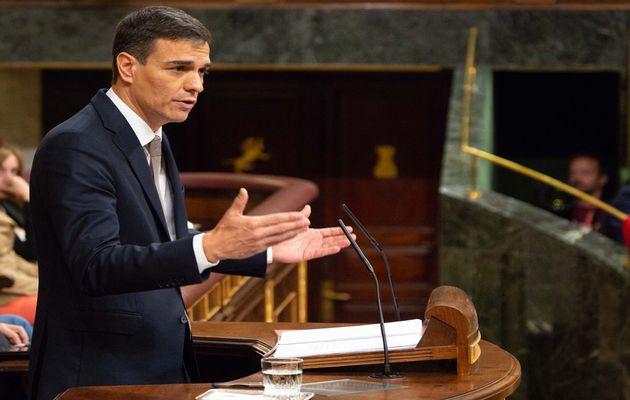 Pedron Sánchez during the no-confidence vote debate. / Spanish Parliament,