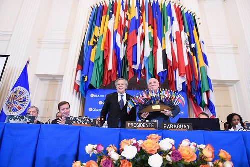 The closure of the Organization of American States 2018 Assembly, in Washington D.C. / OAS,