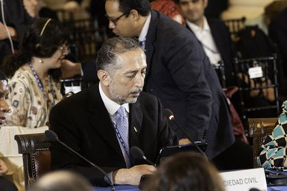 Mexican pastor Gilberto Rocha during the Assembly. / Nelson Rodriguez, OAS. Flickr (CC 2.0).
