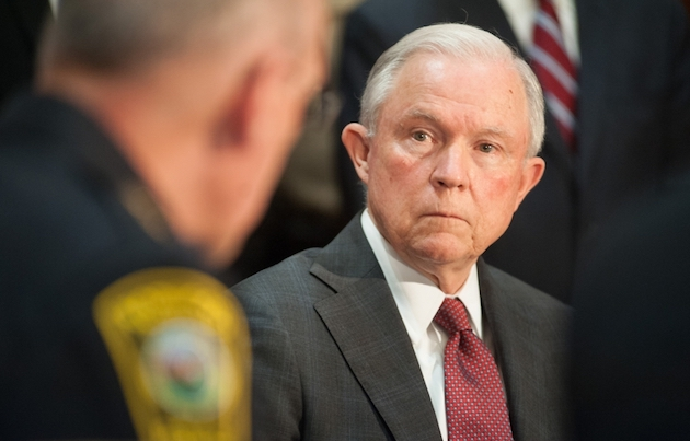 Attorney General  Jeff Sessions  defended the Trump administration's migration policy by citing a passage from Romans 13 . / Matthew T. Nichols, Department of Justice,