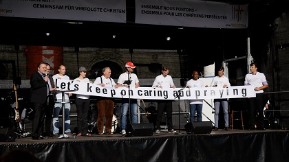 The Verfolgung.jetz gahtering in Bern raised awareness about the persecution of Christians. / Verfolgung.jetzt