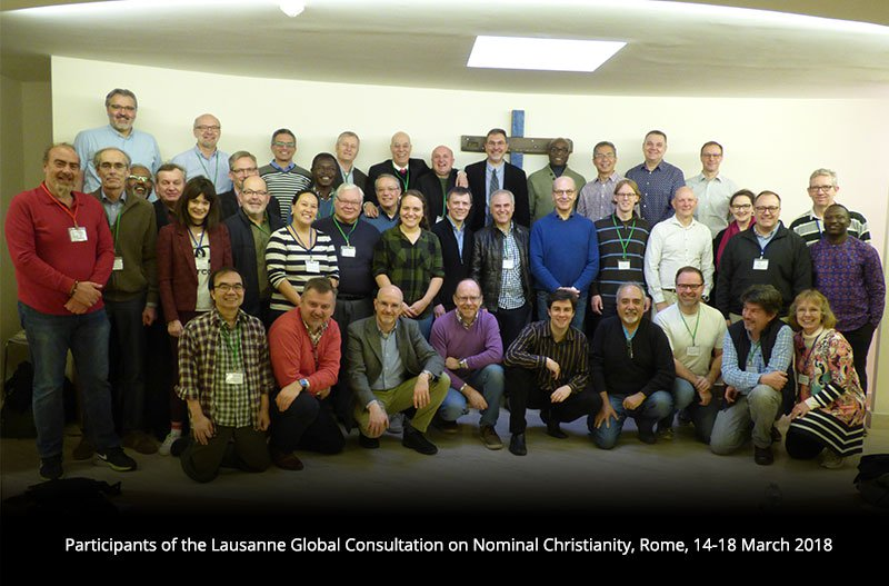 Lausanne Movement Consultation on Nominal Christianity, March 2018, in Rome. / Lausanne Movement