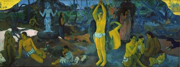 Where do we come from, Gauguin's painting.,
